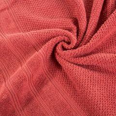 Bawełniany ręcznik kąpielowy frote ceglasty 50x90 - 50 X 90 cm - pomarańczowy 7