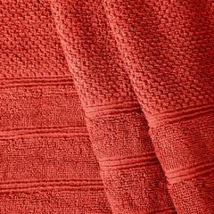 Bawełniany ręcznik kąpielowy frote ceglasty 70x140 - 70 X 140 cm - pomarańczowy 4