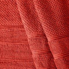 Bawełniany ręcznik kąpielowy frote ceglasty 70x140 - 70 X 140 cm - pomarańczowy 5
