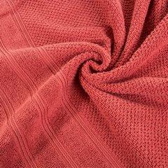 Bawełniany ręcznik kąpielowy frote ceglasty 70x140 - 70 X 140 cm - pomarańczowy 6