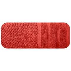 Bawełniany ręcznik kąpielowy frote ceglasty 70x140 - 70 X 140 cm - pomarańczowy 3