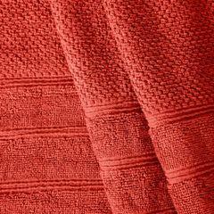 Bawełniany ręcznik kąpielowy frote ceglasty 70x140 - 70 X 140 cm - pomarańczowy 2