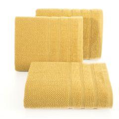 Bawełniany ręcznik kąpielowy frote musztardowy 50x90 - 50 X 90 cm - musztardowy 1