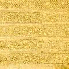 Bawełniany ręcznik kąpielowy frote musztardowy 50x90 - 50 X 90 cm - musztardowy 9