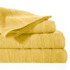 Bawełniany ręcznik kąpielowy frote musztardowy 50x90 - 50 X 90 cm - musztardowy 2