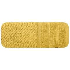 Bawełniany ręcznik kąpielowy frote musztardowy 50x90 - 50 X 90 cm - musztardowy 3