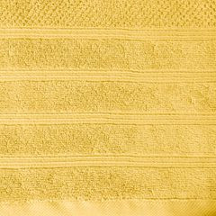 Bawełniany ręcznik kąpielowy frote musztardowy 50x90 - 50 X 90 cm - musztardowy 5