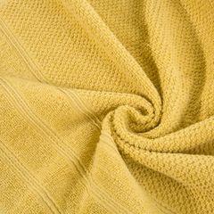 Bawełniany ręcznik kąpielowy frote musztardowy 50x90 - 50 X 90 cm - musztardowy 7