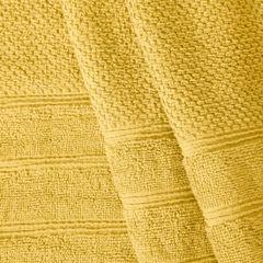 Bawełniany ręcznik kąpielowy frote musztardowy 70x140 - 70 X 140 cm - musztardowy 10