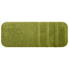 Bawełniany ręcznik kąpielowy frote oliwkowy 50x90 - 50 X 90 cm - oliwkowy 3