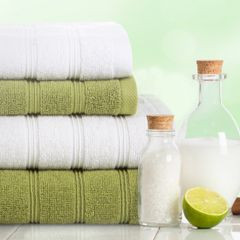 Bawełniany ręcznik kąpielowy frote oliwkowy 50x90 - 50 X 90 cm - oliwkowy 4