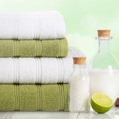 Bawełniany ręcznik kąpielowy frote oliwkowy 70x140 - 70 X 140 cm - oliwkowy 8