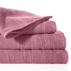 Bawełniany ręcznik kąpielowy frote liliowy 50x90 - 50 X 90 cm - liliowy 2