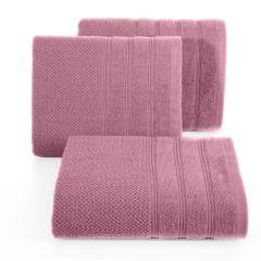 Bawełniany ręcznik kąpielowy frote liliowy 70x140 - 70 X 140 cm - liliowy 1