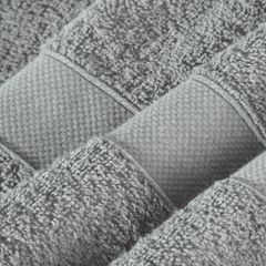 Miękki chłonny ręcznik kąpielowy stalowy 50x90 - 50 X 90 cm - stalowy 8
