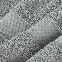 Miękki chłonny ręcznik kąpielowy stalowy 50x90 - 50x90 - szary 1