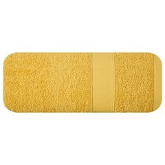 Miękki chłonny ręcznik kąpielowy musztardowy 70x140 - 70 X 140 cm - musztardowy 2