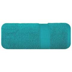 Miękki chłonny ręcznik kąpielowy turkusowy 50x90 - 50 X 90 cm - turkusowy 2