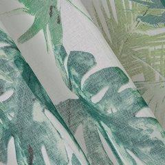 Zasłona z motywem monstery ness na przelotkach 140x250cm - 140 X 250 cm - zielony 2
