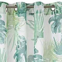 Zasłona z motywem monstery ness na przelotkach 140x250cm - 140 X 250 cm - zielony 4