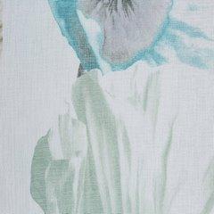 Zasłona z motywem roślinnym przelotki 140x250 cm  - 140 X 250 cm - szary/niebieski 4