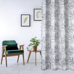 Zasłona w liście palmowe nancy na przelotkach 140x250 - 140 X 250 cm - szary/brązowy 1
