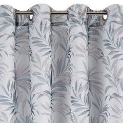 Zasłona w liście palmowe nancy na przelotkach 140x250 - 140 X 250 cm - szary/brązowy 6