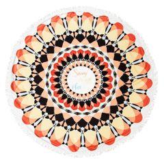 Okrągły ręcznik plażowy z mikrofibry z frędzlami o średnicy 150 cm - ∅ 150 cm - wielokolorowy 1