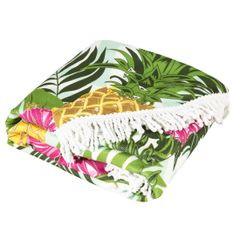 Okrągły ręcznik plażowy z mikrofibry z frędzlami o średnicy 150 cm - ∅ 150 cm - wielokolorowy 2
