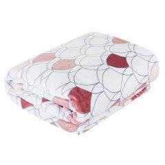 Kloe mięciutki koc z mikroflano różowy 170x210 Design 91 - 170 X 210 cm - biały/różowy 3