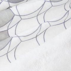 Kloe mięciutki koc z mikroflano srebrny 170x210 Design 91 - 170 X 210 cm - srebrny 4