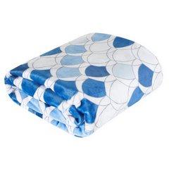 Kloe mięciutki koc z mikroflano granatowy 170x210 Design 91 - 170 X 210 cm - biały/niebieski/granatowy 3