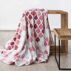 Kloe mięciutki koc z mikroflano różowy 200x220 Design 91 - 200 x 220 cm - różowy 2