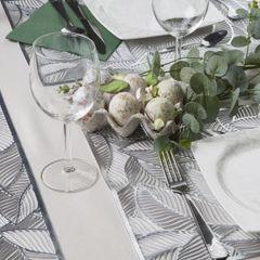 Ażurowa podkładka stołowa srebrne liście palmowe 30x45 cm - 30 X 45 cm - srebrny 3
