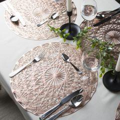 Ażurowa podkładka stołowa srebrna średnica 38 cm - ∅ 38 cm - srebrny 3