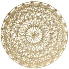 Ażurowa podkładka stołowa złota średnica 38 cm - ∅ 38 cm - złoty 1