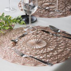 Ażurowa podkładka stołowa miedziana średnica 38 cm - ∅ 38 cm - miedziany 3