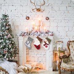 Mikołaj urocza ozdobna poszewka świąteczna 40x40 cm - 40 X 40 cm - biały/czerwony 4