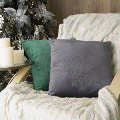Śnieżynka ozdobna poszewka świąteczna biała 40x40 cm - 40x40 - Biały, srebrny 3