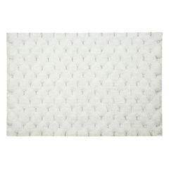 Biały dywanik łazienkowy tłoczony ze srebrną nicią 50x70 cm - 50 X 70 cm - biały 2