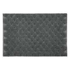 Grafitowy dywanik łazienkowy tłoczony ze srebrną nicią 50x70 cm - 50 X 70 cm - granatowy 2