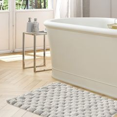 Srebrny dywanik łazienkowy tłoczony ze srebrną nicią 50x70 cm - 50 X 70 cm - popielaty 3