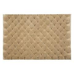 Beżowy dywanik łazienkowy tłoczony ze srebrną nicią 50x70 cm - 50 X 70 cm - beżowy 2