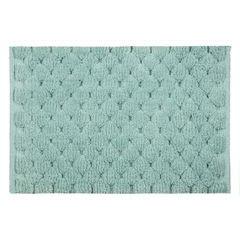 Miętowy dywanik łazienkowy tłoczony ze srebrną nicią 60x90 cm - 60 X 90 cm - miętowy 2