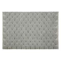 Srebrny dywanik łazienkowy tłoczony ze srebrną nicią 60x90 cm - 60 X 90 cm - popielaty 2