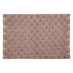 Miętowy dywanik łazienkowy tłoczony ze srebrną nicią 60x90 cm - 60 X 90 cm - różowy 2