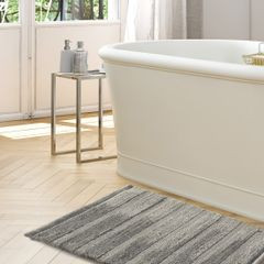 Łazienkowy dywanik w paski splot pętelkowy krem 50x70 cm - 50 X 70 cm - kremowy 4