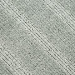 Łazienkowy dywanik w paski splot pętelkowy srebrny 50x70 cm - 50 X 70 cm - popielaty 3