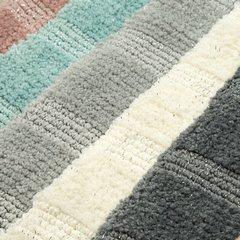 Łazienkowy dywanik w paski splot pętelkowy srebrny 50x70 cm - 50 X 70 cm - popielaty 5