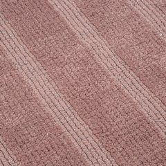 Łazienkowy dywanik w paski splot pętelkowy różowy 50x70 cm - 50 X 70 cm - różowy 6